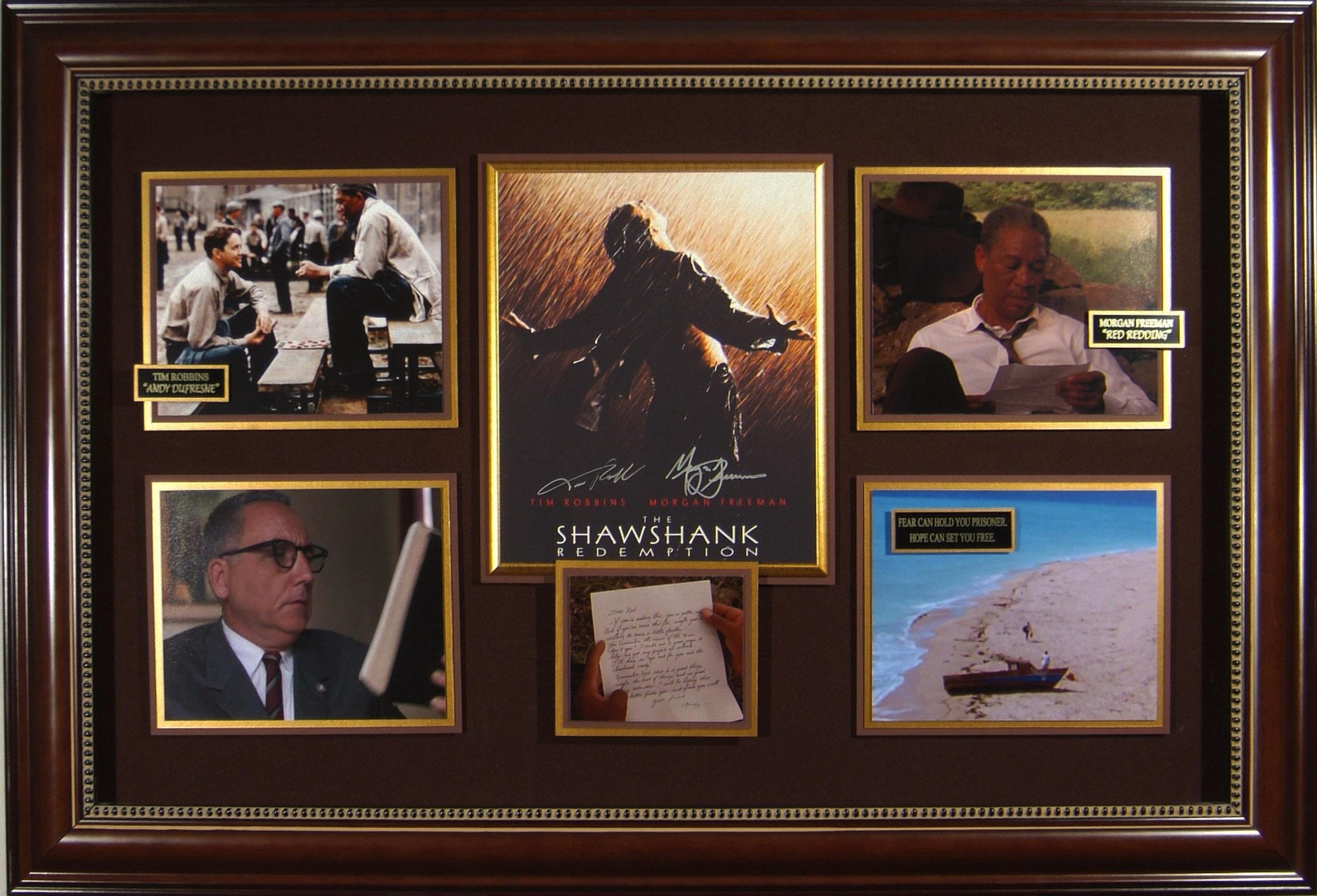 shawshank redemption cast autographed framed movie display
