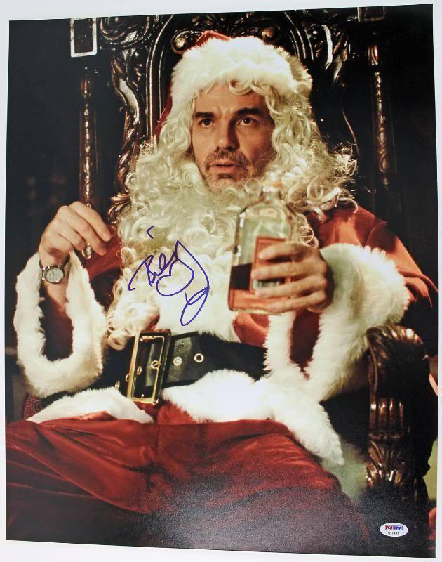 Bob Thornton Autographed Photo - Billy Bad Santa 16x20 Psa dna #q11489