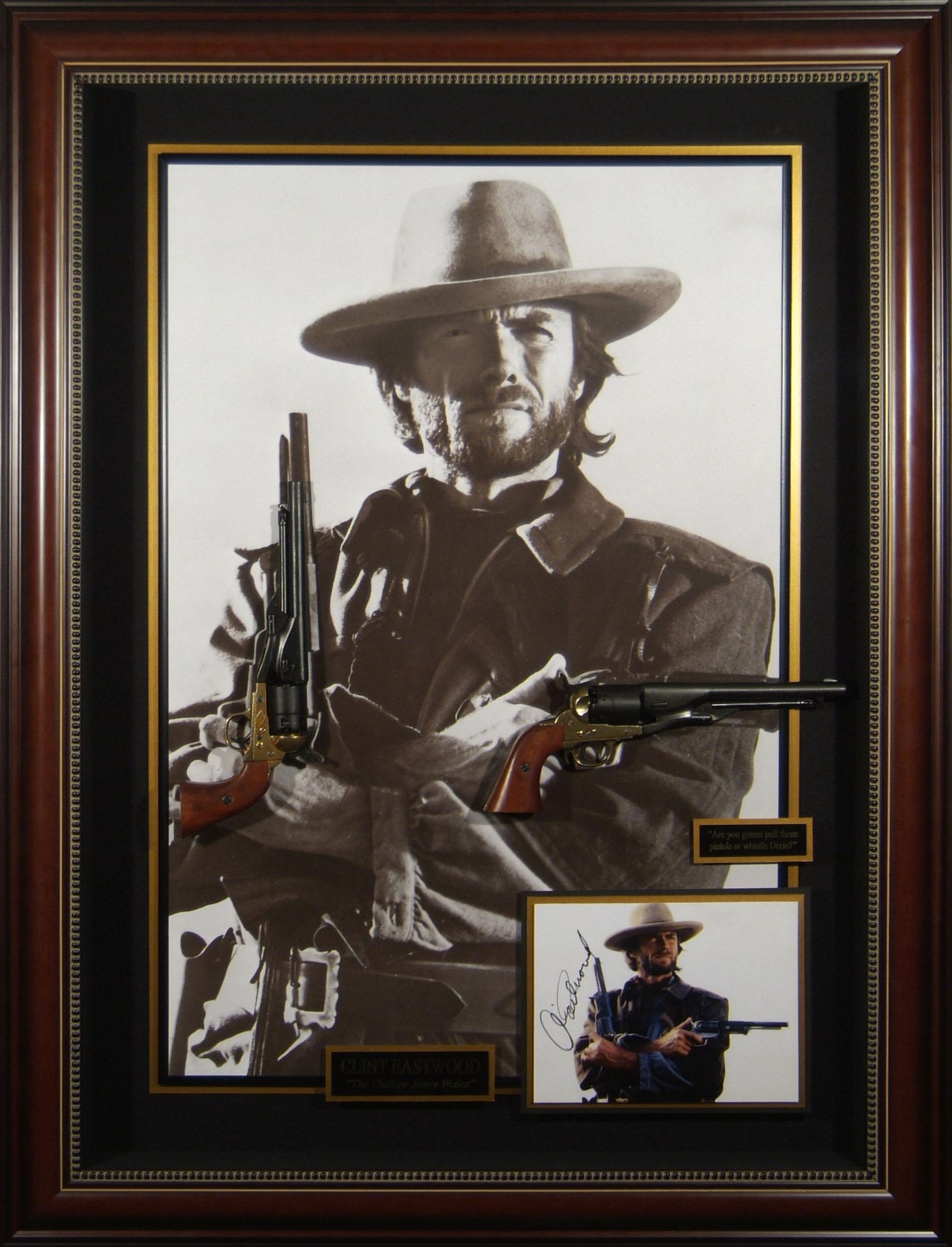 Outlaw Josey Wales Clint Eastwood Autographed Movie Display
