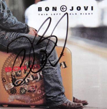 "Jon Bon Jovi Signed ""This Left Feels Right"" CD NEW COA"