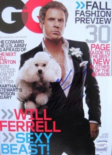 Will Ferrell Anchorman Signed NO LABEL GQ Magazine JSA