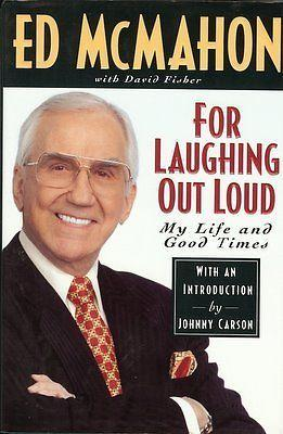 Ed McMahon Signed For Laughing Out Loud Hardback Book JSA