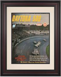 "Framed 10 1/2"" x 14"" 6th Annual 1964 Daytona 500 Program Print - Mounted Memories"