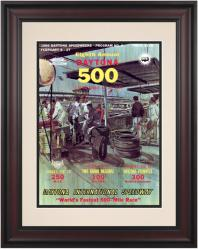 "Framed 10 1/2"" x 14"" 8th Annual 1966 Daytona 500 Program Print - Mounted Memories"