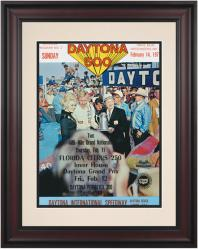 "Framed 10 1/2"" x 14"" 13th Annual 1971 Daytona 500 Program Print"