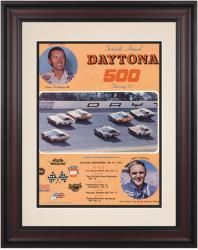 "Framed 10 1/2"" x 14"" 16th Annual 1974 Daytona 500 Program Print - Mounted Memories"