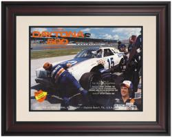 "Framed 10 1/2"" x 14"" 21st Annual 1979 Daytona 500 Program Print"