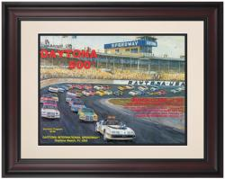 "Framed 10 1/2"" x 14"" 23rd Annual 1981 Daytona 500 Program Print"