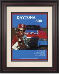 "Framed 10 1/2"" x 14"" 24th Annual 1982 Daytona 500 Program Print"