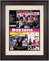 "Framed 10 1/2"" x 14"" 27th Annual 1985 Daytona 500 Program Print - Mounted Memories"