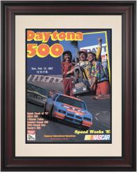 "Framed 10 1/2"" x 14"" 29th Annual 1987 Daytona 500 Program Print - Mounted Memories"