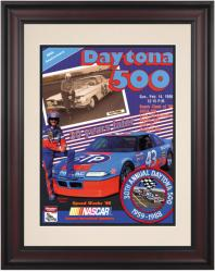"Framed 10 1/2"" x 14"" 30th Annual 1988 Daytona 500 Program Print - Mounted Memories"
