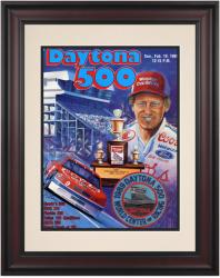 "Framed 10 1/2"" x 14"" 31st Annual 1989 Daytona 500 Program Print"