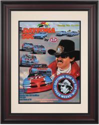 """Framed 10 1/2"""" x 14"""" 33rd Annual 1991 Daytona 500 Program Print"""