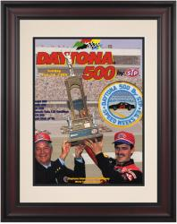 "Framed 10 1/2"" x 14"" 35th Annual 1993 Daytona 500 Program Print - Mounted Memories"