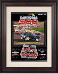 "Framed 10 1/2"" x 14"" 38th Annual 1996 Daytona 500 Program Print - Mounted Memories"