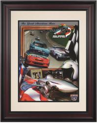"Framed 10 1/2"" x 14"" 40th Annual 1998 Daytona 500 Program Print - Mounted Memories"