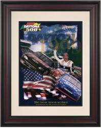 "Framed 10 1/2"" x 14"" 41st Annual 1999 Daytona 500 Program Print - Mounted Memories"