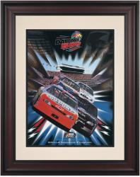 "Framed 10 1/2"" x 14"" 42nd Annual 2000 Daytona 500 Program Print - Mounted Memories"