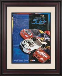 43rd Annual 2001 Daytona 500 Framed 10.5 x 14 Program Print - Mounted Memories