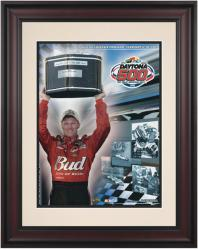 "Framed 10 1/2"" x 14"" 47th Annual 2005 Daytona 500 Program Print - Mounted Memories"