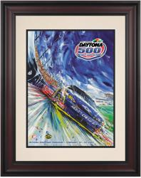 "Framed 10 1/2"" x 14"" 49th Annual 2007 Daytona 500 Program Print - Mounted Memories"