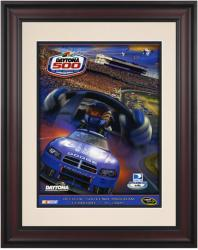 "Framed 10 1/2"" x 14"" 51st Annual 2009 Daytona 500 Program Print - Mounted Memories"