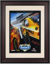 "Framed 10 1/2"" x 14"" 52nd Annual 2010 Daytona 500 Program Print - Mounted Memories"