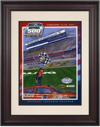 "Framed 10 1/2"" x 14"" 53rd Annual 2011 Daytona 500 Program Print - Mounted Memories"