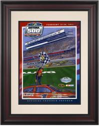 """Framed 10 1/2"""" x 14"""" 53rd Annual 2011 Daytona 500 Program Print"""