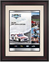 "Framed 10 1/2"" x 14"" 54th Annual 2012 Daytona 500 Program Print - Mounted Memories"