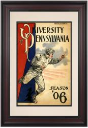 1906 Penn Quakers Season Cover 10 1/2 x 14 Framed Historic Football Poster - Mounted Memories