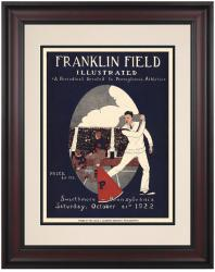 1922 Penn Quakers vs Swarthmore the Garnet 10 1/2 x 14 Framed Historic Football Poster - Mounted Memories
