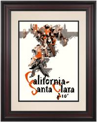 1927 California Golden Bears vs Santa Clara Broncos 10 1/2 x 14 Framed Photo Historic Football Print - Mounted Memories