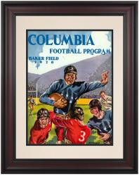 1928 Columbia Lions Season Cover 10 1/2 x 14 Framed Historic Football Poster - Mounted Memories