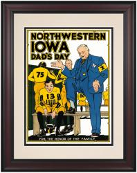 1931 Iowa Hawkeyes vs Northwestern Wildcats 10 1/2 x 14 Framed Historic Football Poster - Mounted Memories