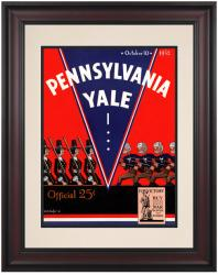 1942 Yale Bulldogs vs Penn Quakers 10 1/2 x 14 Framed Historic Football Poster - Mounted Memories