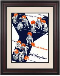 1943 Penn Quakers vs Yale Bulldogs 10 1/2 x 14 Framed Historic Football Poster - Mounted Memories