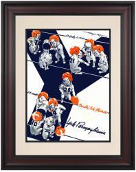 1943 Penn Quakers vs Yale Bulldogs 10 1/2 x 14 Framed Historic Football Poster