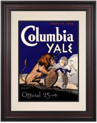 1944 Yale Bulldogs vs Columbia Lions 10 1/2 x 14 Framed Historic Football Poster - Mounted Memories