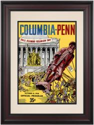 1948 Columbia Lions vs Penn Quakers 10 1/2 x 14 Framed Historic Football Poster - Mounted Memories