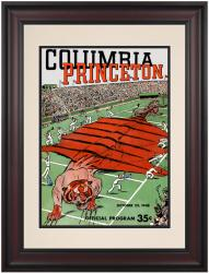 1948 Columbia Lions vs Princeton Tigers 10 1/2 x 14 Framed Historic Football Poster - Mounted Memories