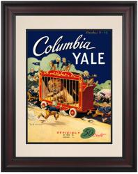 1948 Yale Bulldogs vs Columbia Lions 10 1/2 x 14 Framed Historic Football Poster - Mounted Memories