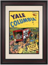 1949 Columbia Lions vs Yale Bulldogs 10 1/2 x 14 Framed Historic Football Poster - Mounted Memories