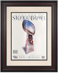 "2002 Patriots vs Rams 10.5"" x 14"" Framed Super Bowl XXXVI Program"