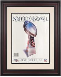 "2002 Patriots vs Rams 10.5"" x 14"" Framed Super Bowl XXXVI Program"
