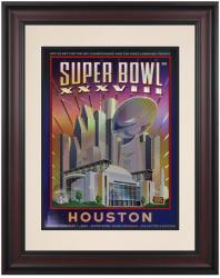"2004 Patriots vs Panthers 10.5"" x 14"" Framed Super Bowl XXXVIII Program"