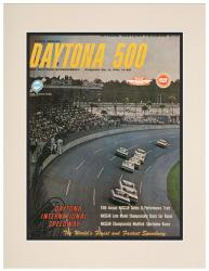 "Matted 10 1/2"" x 14"" 6th Annual 1964 Daytona 500 Program Print"