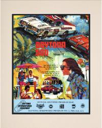 15th Annual 1973 Daytona 500 Matted 10.5 x 14 Program Print - Mounted Memories