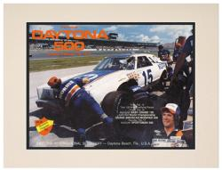 Matted 10 1/2'' x 14'' 21st Annual 1979 Daytona 500 Program Print - Mounted Memories